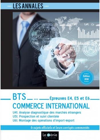 BTS Commerce International - Épreuve E4, E5 et E6