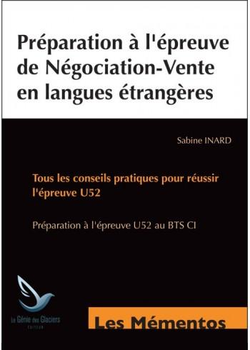 Préparation à l'épreuve de négociation-vente en langues étrangères