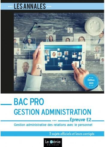 Bac Pro Gestion-Administration - Épreuve E2